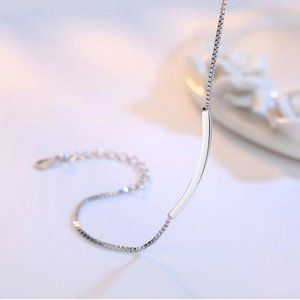 Jewelry - NEW 925 Sterling Silver Simple Bar Bracelet